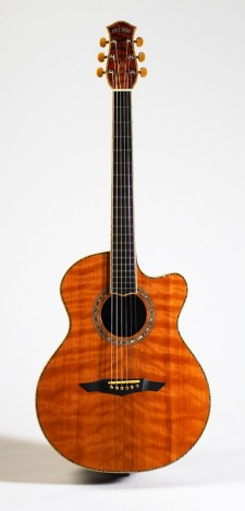 Full front view of guitar made by PetrosGuitars.com