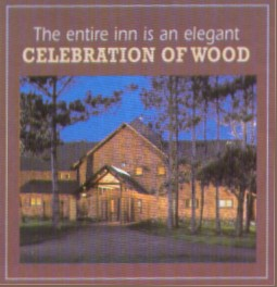 The entire inn is a celebration of wood